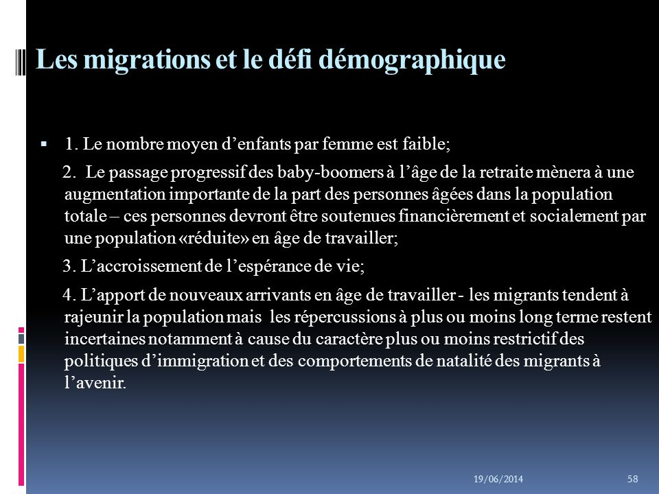 Les migrations et le défi alimentaire  1.