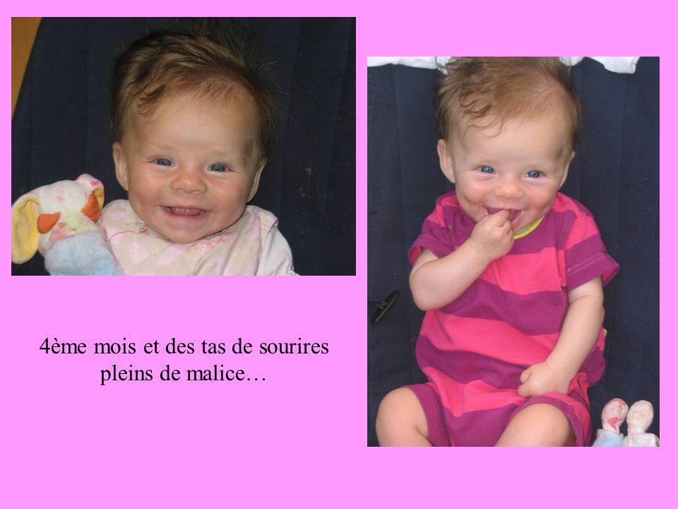 4ème mois et des tas de sourires pleins de malice…