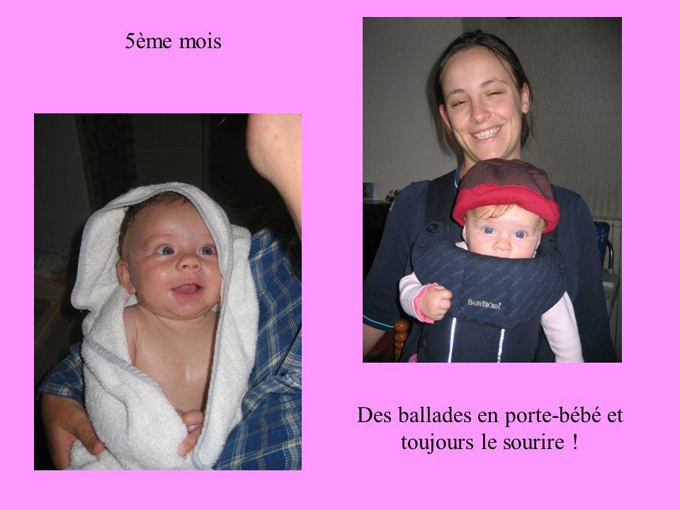 5ème mois Des ballades en porte-bébé et toujours le sourire !