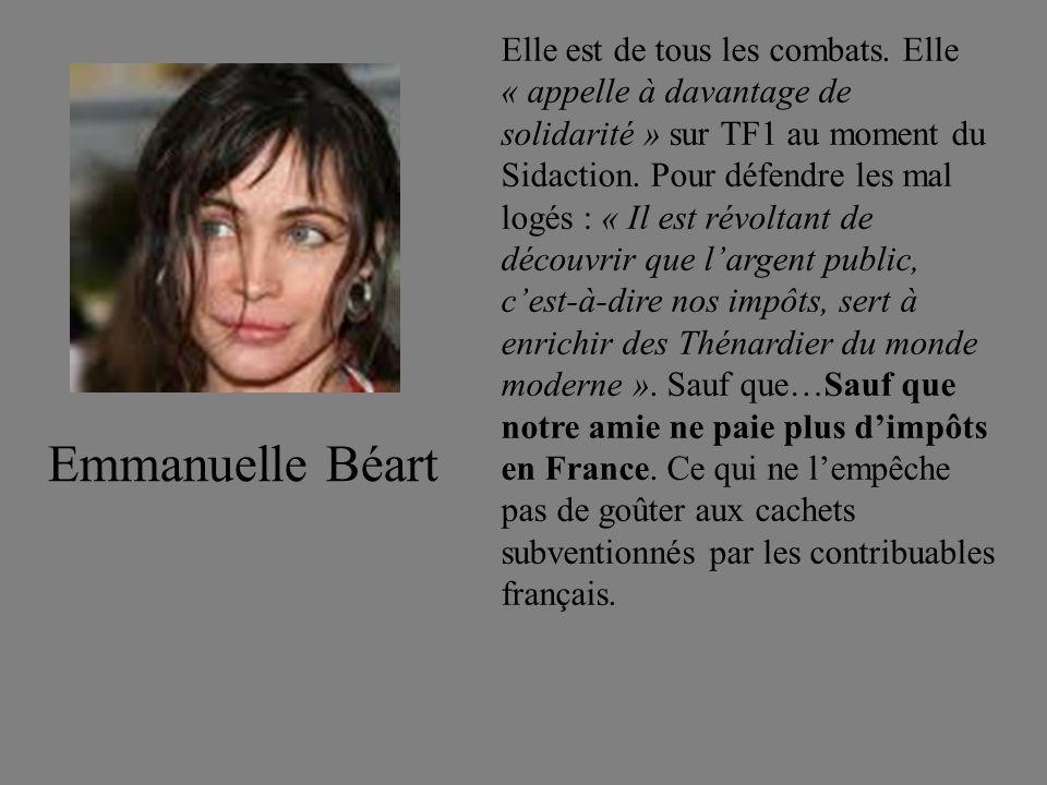 Elle est de tous les combats. Elle « appelle à davantage de solidarité » sur TF1 au moment du Sidaction. Pour défendre les mal logés : « Il est révolt