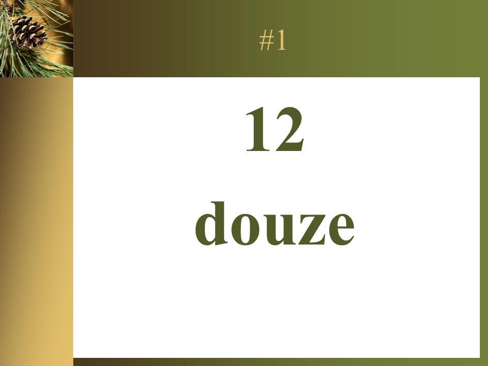 #1 12 douze