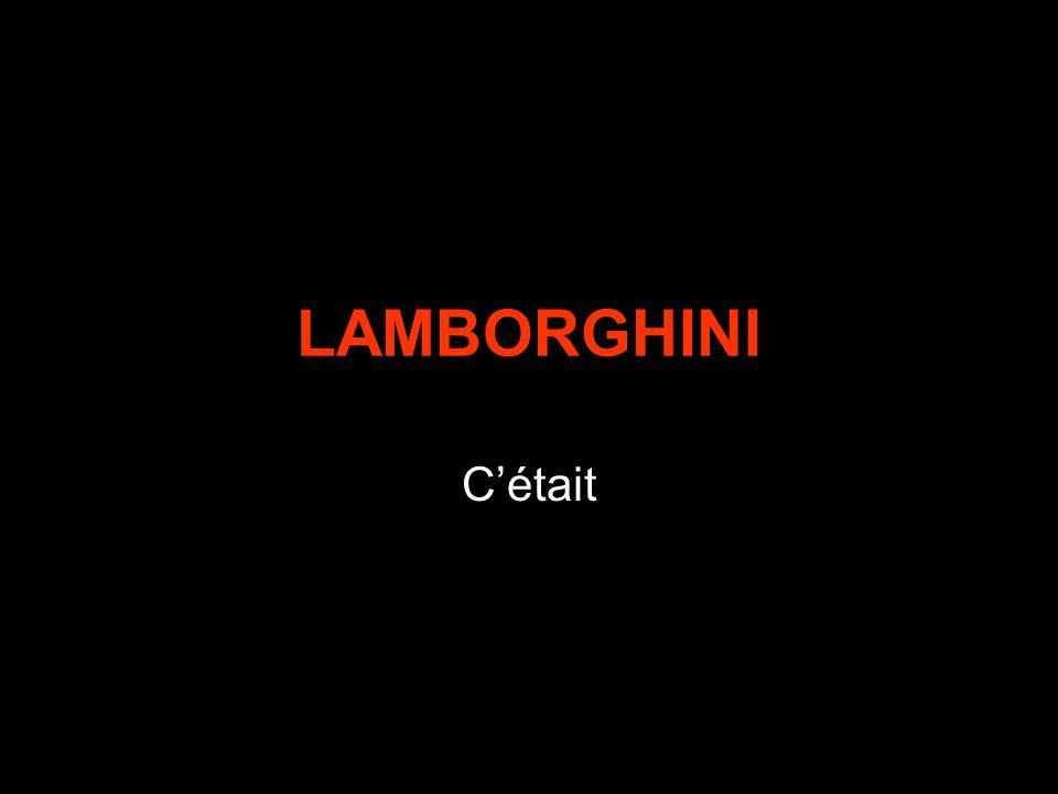 LAMBORGHINI C'était
