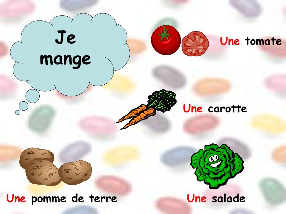 Une tomate Une carotte Une pomme de terreUne salade
