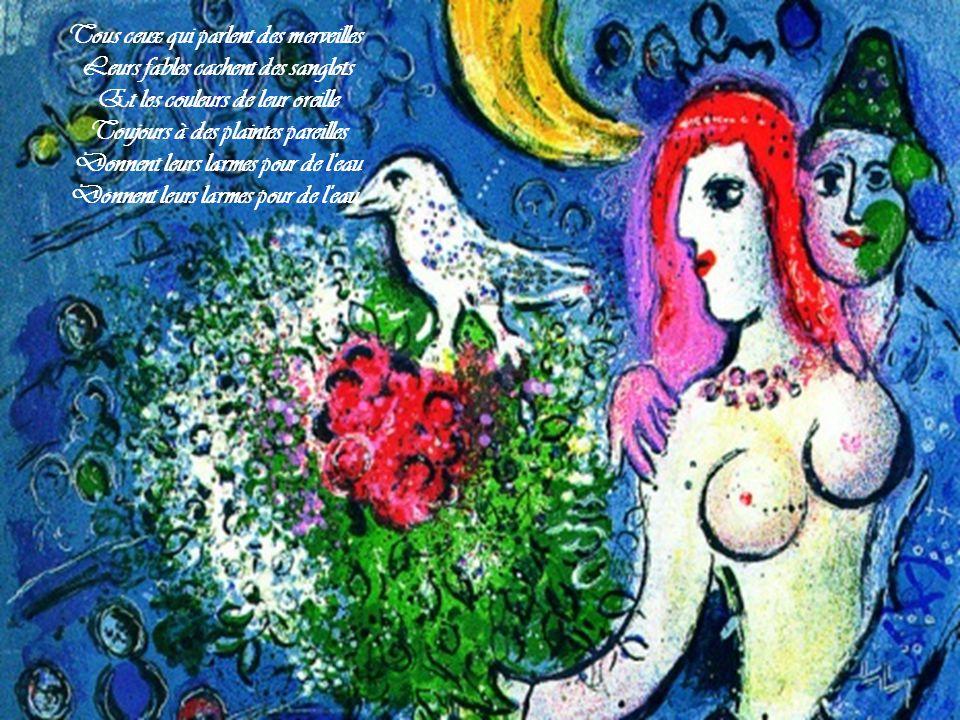 Jean Ferrat Les oiseaux déguisés Illustrations: Toiles de Marc Chagall Par Nanou et Stan