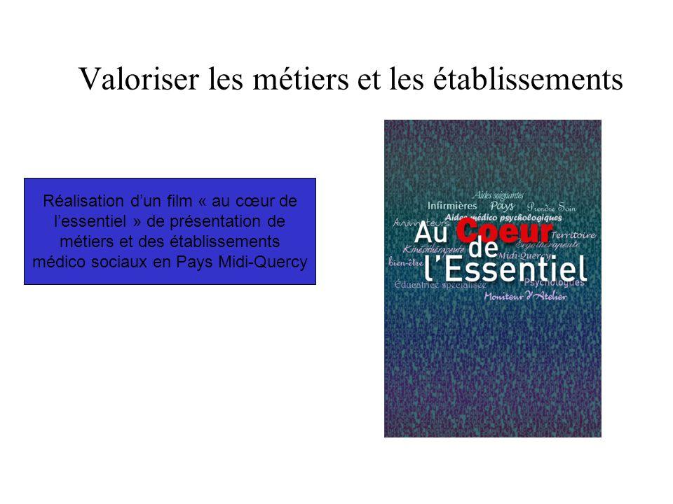 Valoriser les métiers et les établissements Réalisation d'un film « au cœur de l'essentiel » de présentation de métiers et des établissements médico sociaux en Pays Midi-Quercy