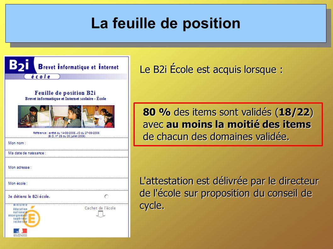 L attestation est délivrée par le directeur de l école sur proposition du conseil de cycle.