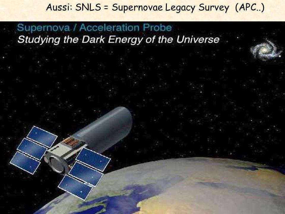 SNAP Aussi: SNLS = Supernovae Legacy Survey (APC..)