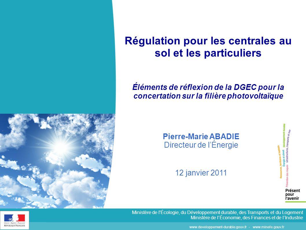 www.developpement-durable.gouv.fr - www.minefe.gouv.fr Ministère de l'Écologie, du Développement durable, des Transports et du Logement Ministère de l