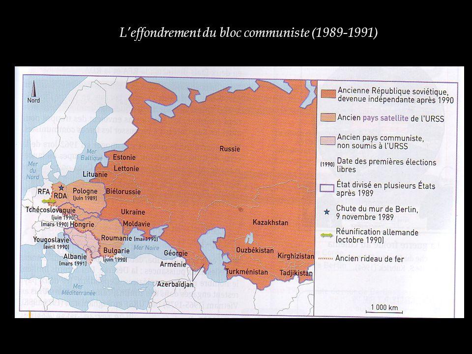 L'effondrement du bloc communiste (1989-1991)