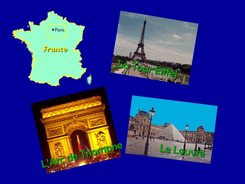 La Tour Eiffel L'Arc de Triomphe Le Louvre