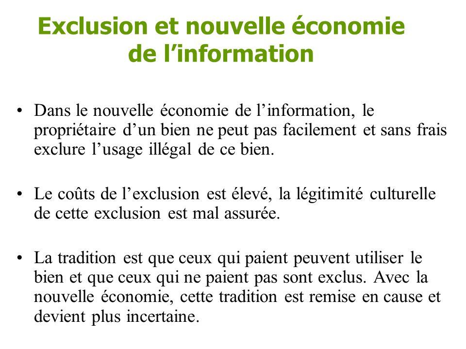 Exclusion •L'exclusion est une question de technique et de droit, mais aussi de culture.