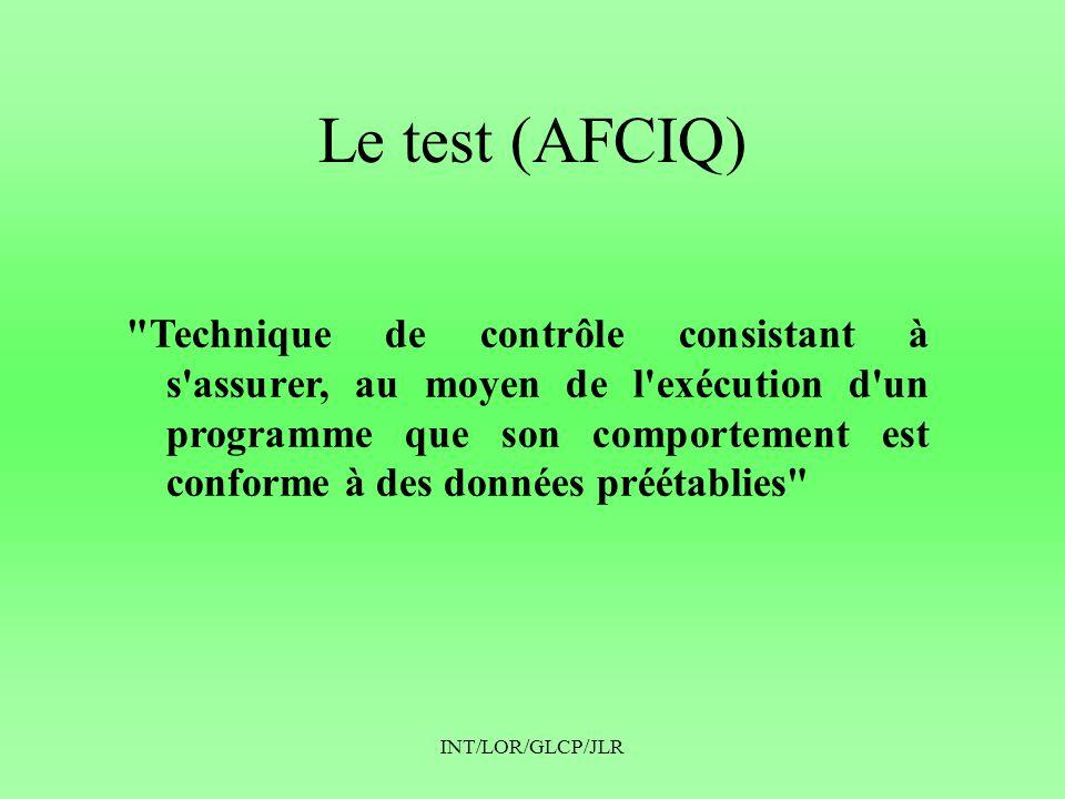 INT/LOR/GLCP/JLR Le test (AFCIQ)
