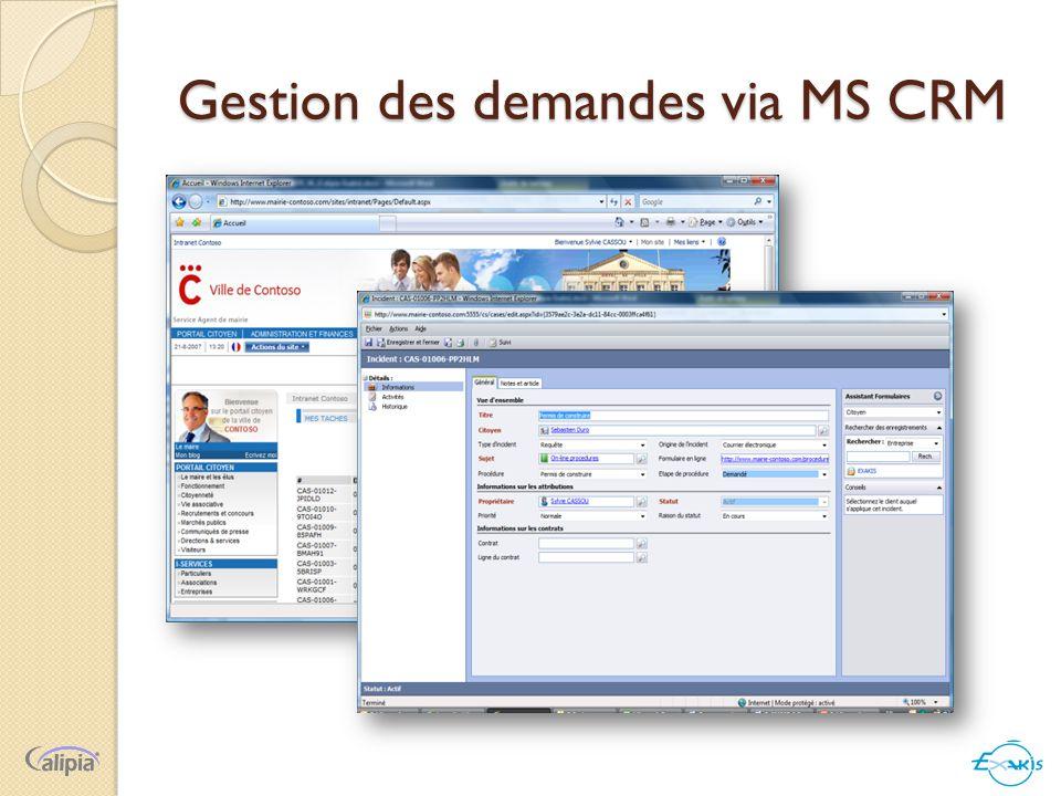 Gestion des demandes via MS CRM