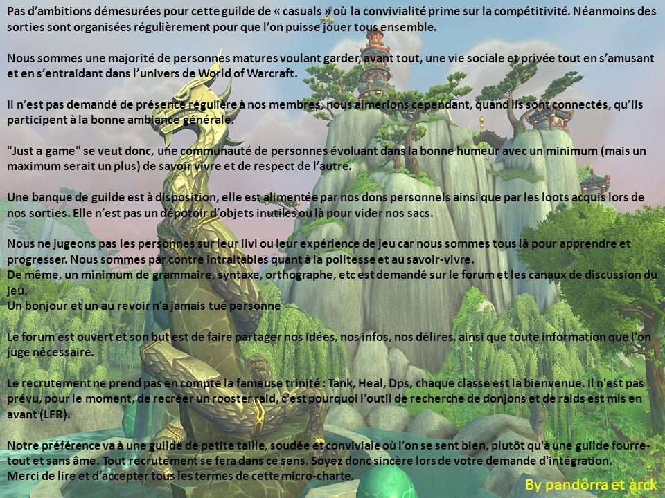La signature de la charte Ce fait sur le forum Un sujet y est dédié Merci Tous les compléments d'info sont disponible sur mumble auprès d'un co- directeur ou directeur Bon jeux à tous By pandôrra et àrck