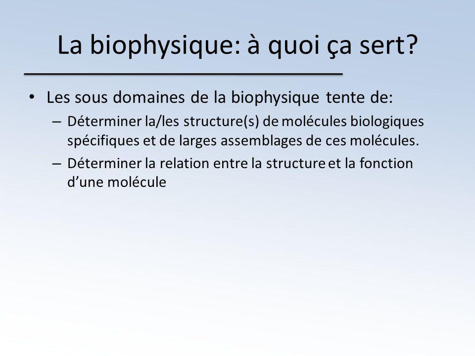La biophysique: à quoi ça sert.