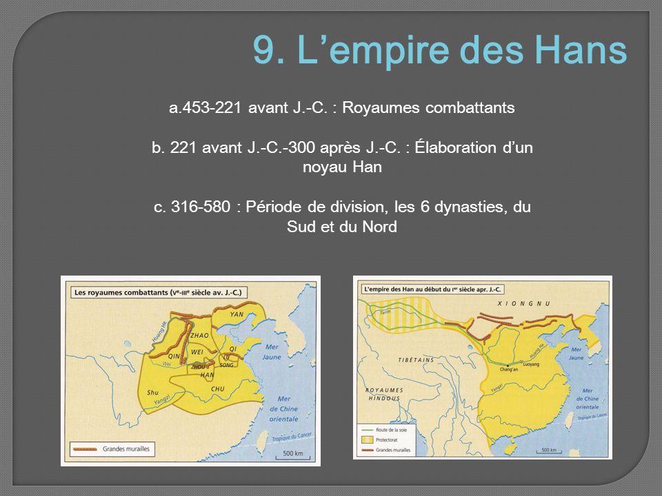 9.L'empire des Hans a.453-221 avant J.-C. : Royaumes combattants b.