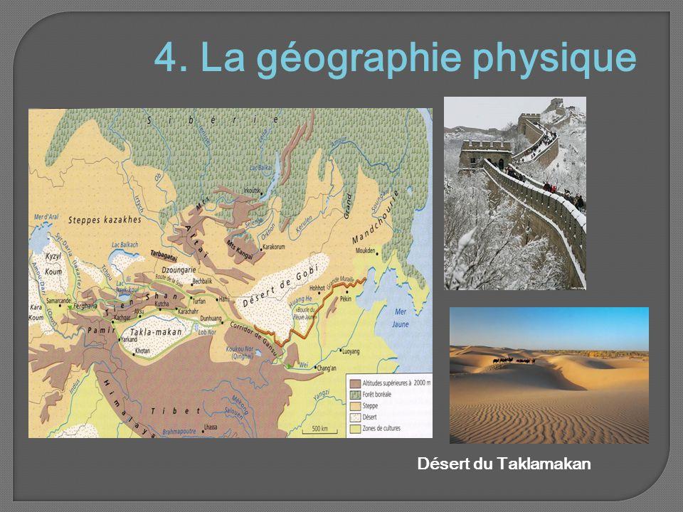 4. La géographie physique Désert du Taklamakan