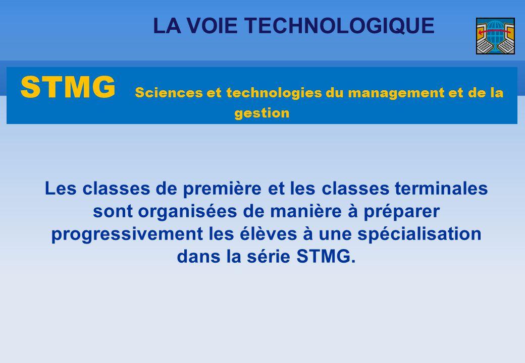Les classes de première et les classes terminales sont organisées de manière à préparer progressivement les élèves à une spécialisation dans la série
