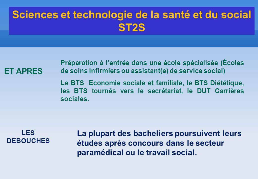 Préparation à l'entrée dans une école spécialisée (Écoles de soins infirmiers ou assistant(e) de service social) Le BTS Economie sociale et familiale,