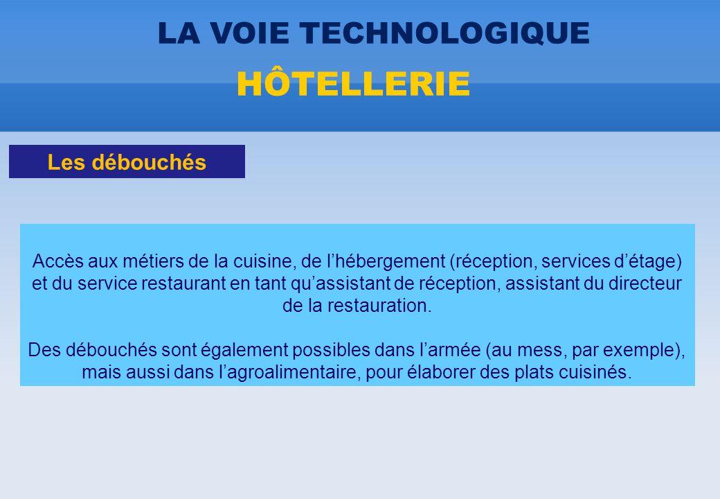 Accès aux métiers de la cuisine, de l'hébergement (réception, services d'étage) et du service restaurant en tant qu'assistant de réception, assistant