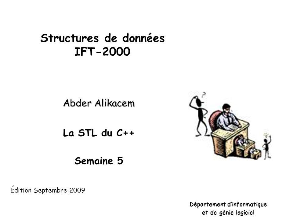 Opérations importantes • boucle 4 2 5 3 1 1 11 11 1 12345 1 2 3 4 5 Matrice d'adjacence