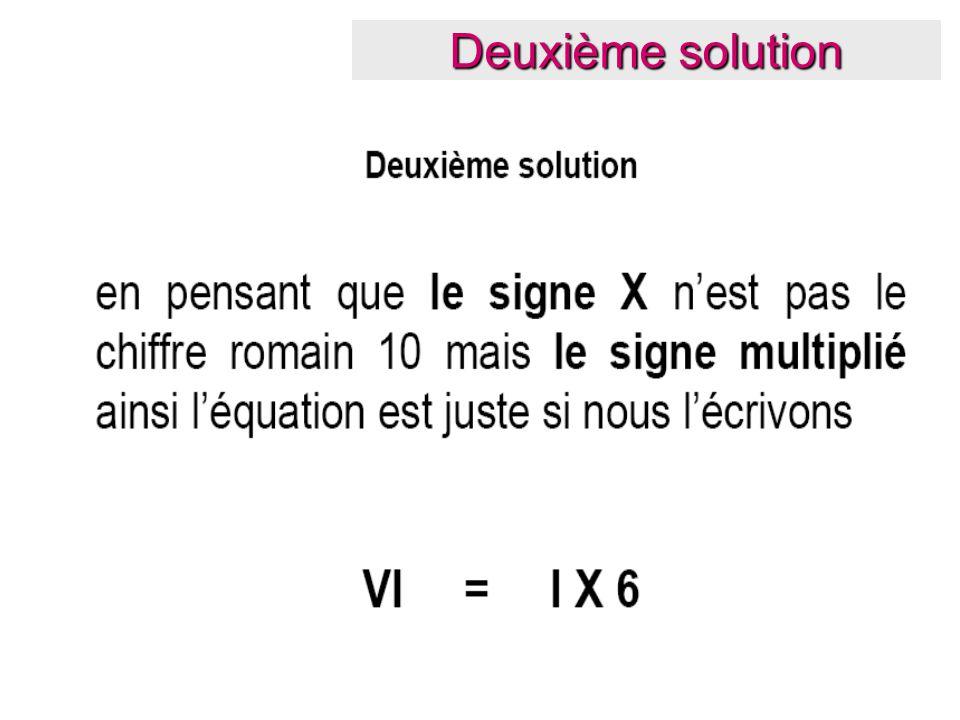 Deuxième solution
