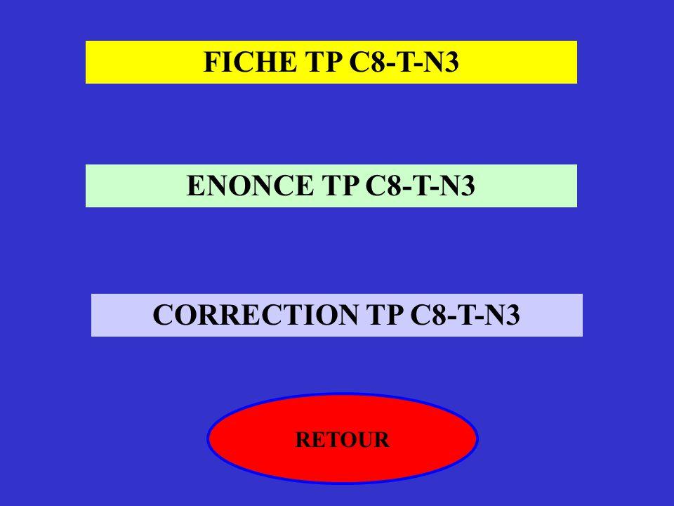 FICHE TP C8-T-N3 ENONCE TP C8-T-N3 CORRECTION TP C8-T-N3 RETOUR