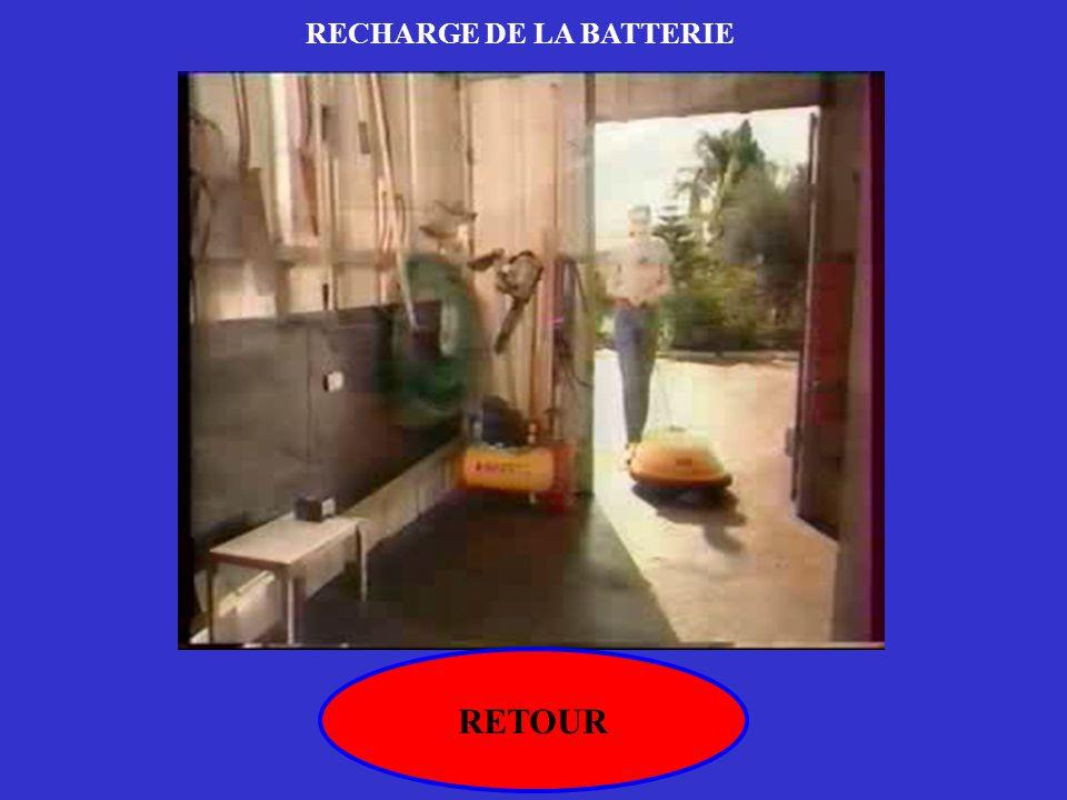 RETOUR RECHARGE DE LA BATTERIE