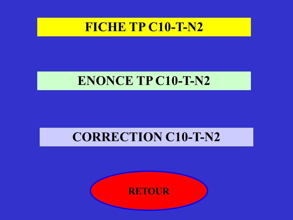 FICHE TP C10-T-N2 ENONCE TP C10-T-N2 CORRECTION C10-T-N2 RETOUR