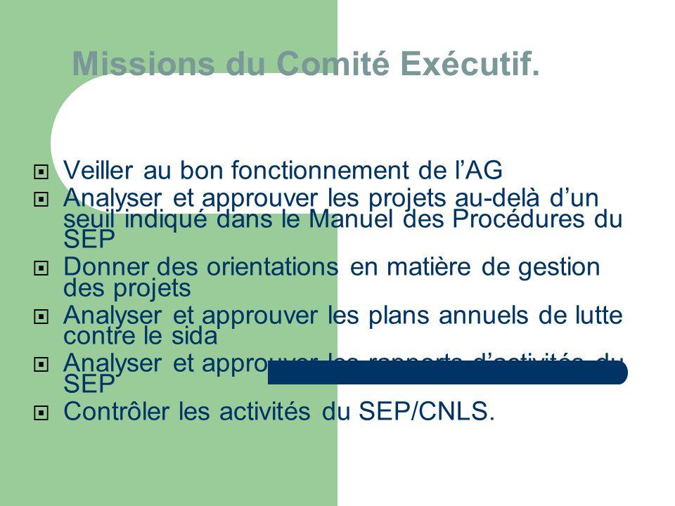 Missions du Comité Exécutif.