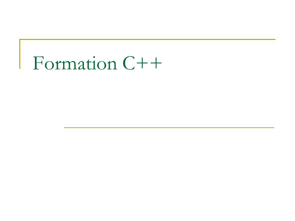 Formation C++