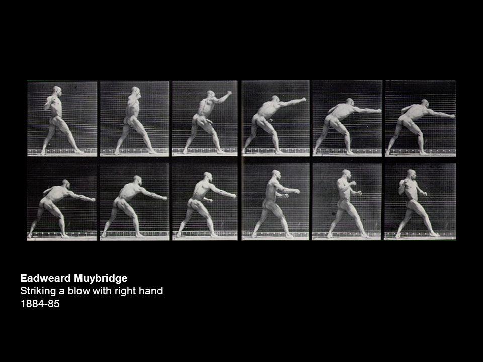 Eadweard Muybridge Striking a blow with right hand 1884-85