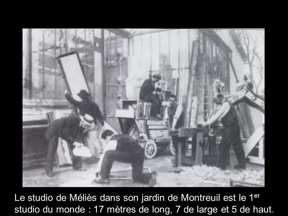 Le studio de Méliès dans son jardin de Montreuil est le 1 er studio du monde : 17 mètres de long, 7 de large et 5 de haut.