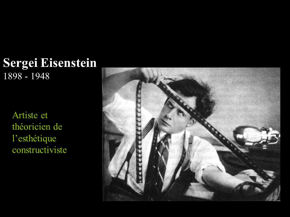 Sergei Eisenstein 1898 - 1948 Artiste et théoricien de l'esthétique constructiviste
