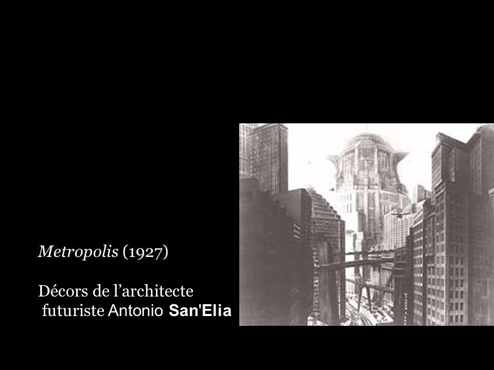 Metropolis (1927) Décors de l'architecte futuriste Antonio San'Elia