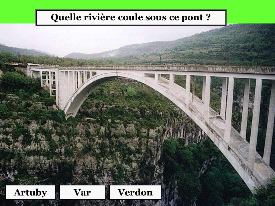 Quelle rivière coule sous ce pont ? ArtubyVerdonVar