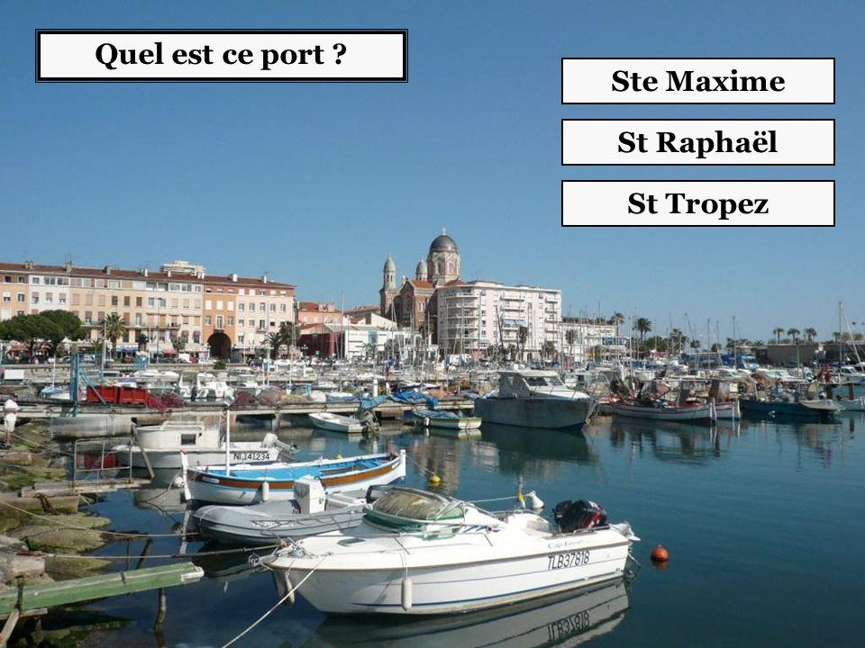 Quel est ce port ? Ste Maxime St Raphaël St Tropez