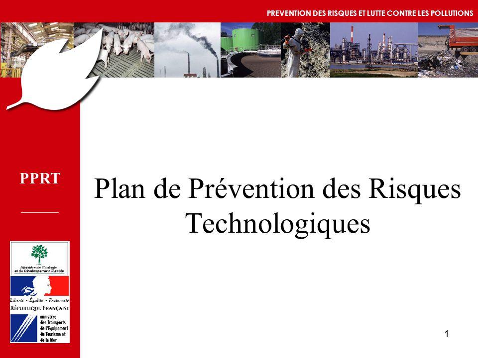 PPRT MEDD/DPPR/SEI - MTETM/DGUHC 1 Plan de Prévention des Risques Technologiques PPRT PREVENTION DES RISQUES ET LUTTE CONTRE LES POLLUTIONS