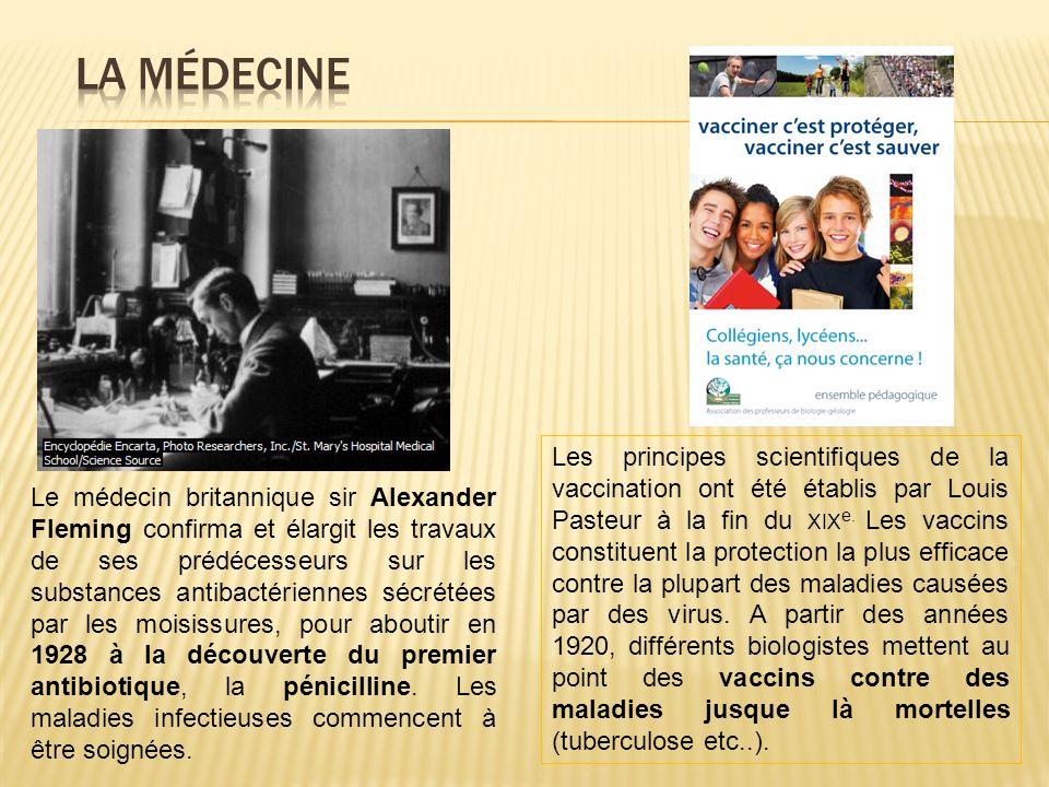 Le médecin britannique sir Alexander Fleming confirma et élargit les travaux de ses prédécesseurs sur les substances antibactériennes sécrétées par le