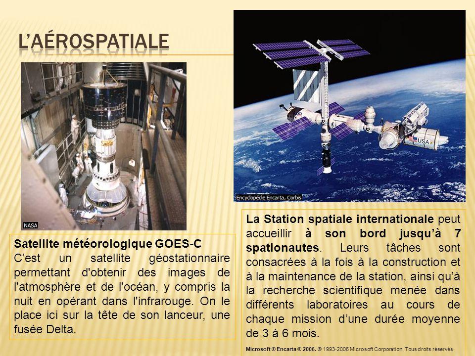 Satellite météorologique GOES-C C'est un satellite géostationnaire permettant d'obtenir des images de l'atmosphère et de l'océan, y compris la nuit en