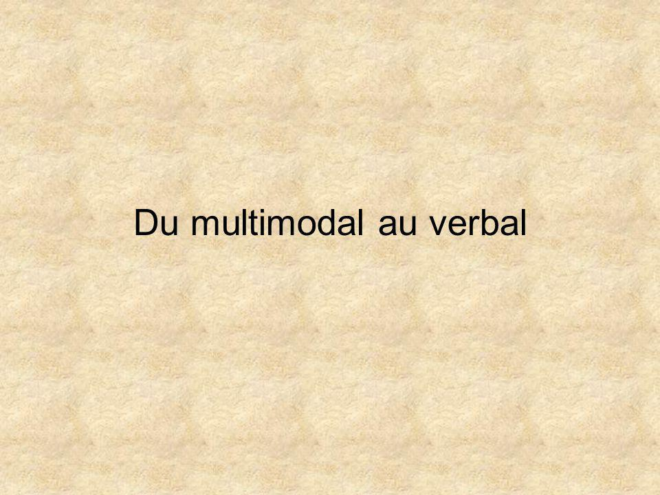 Du multimodal au verbal
