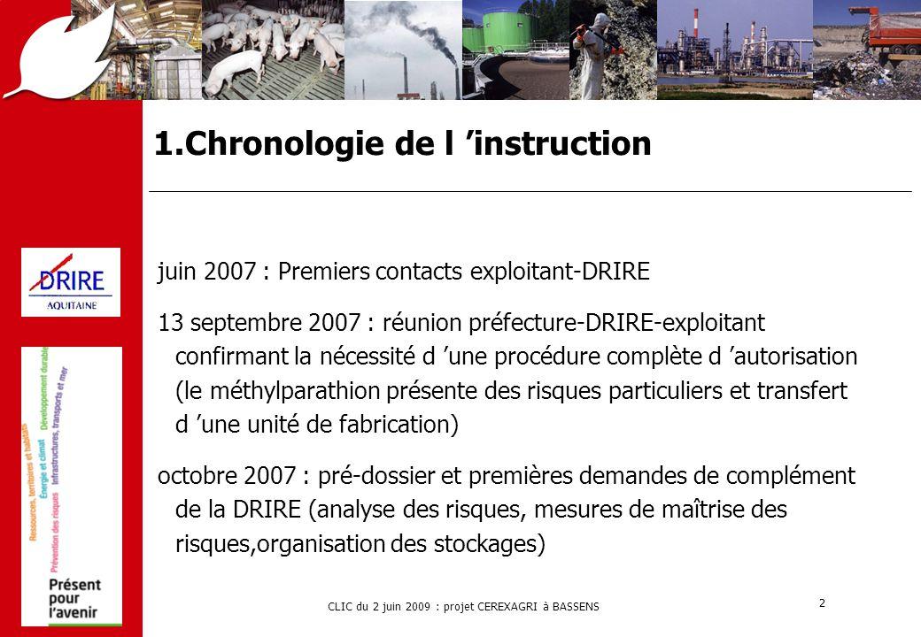 CLIC du 2 juin 2009 : projet CEREXAGRI à BASSENS 13 3.