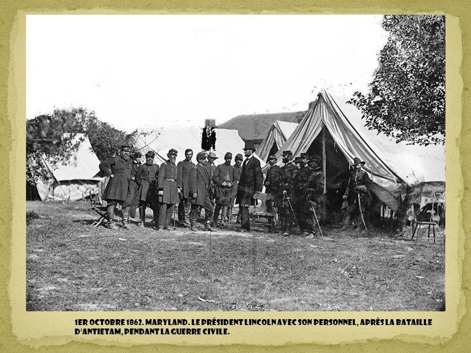 1er octobre 1862.Maryland.