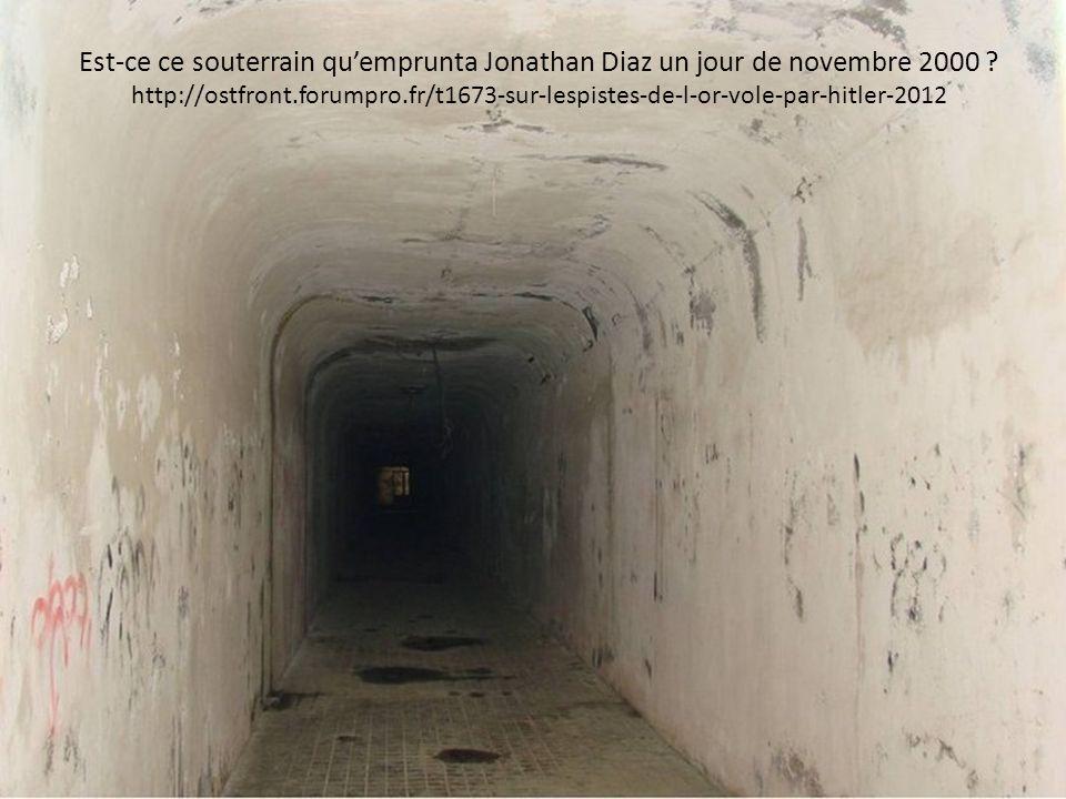 Est-ce ce souterrain qu'emprunta Jonathan Diaz un jour de novembre 2000 ? http://ostfront.forumpro.fr/t1673-sur-lespistes-de-l-or-vole-par-hitler-2012