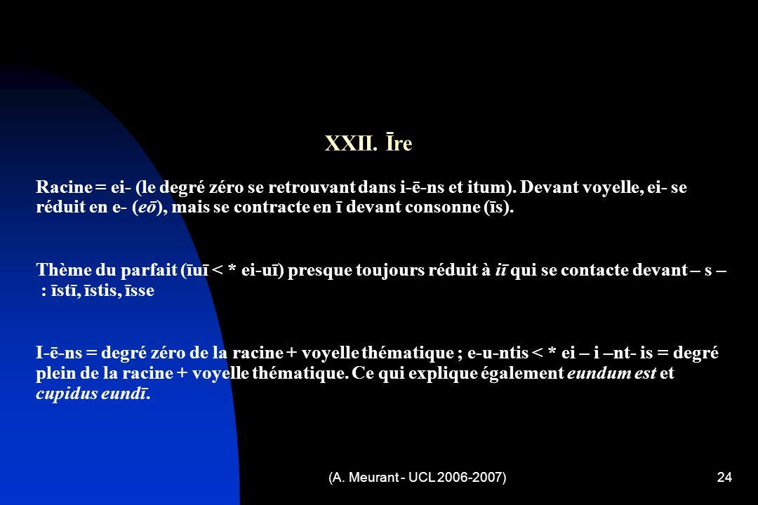 (A. Meurant - UCL 2006-2007)24 XXII.