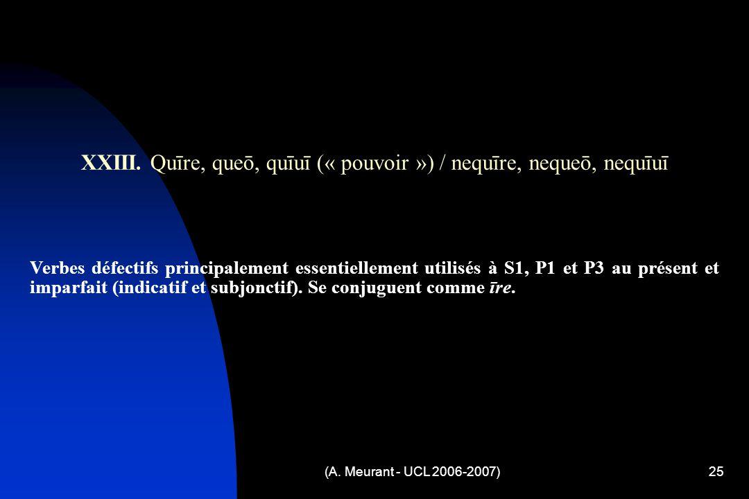 (A. Meurant - UCL 2006-2007)25 XXIII.