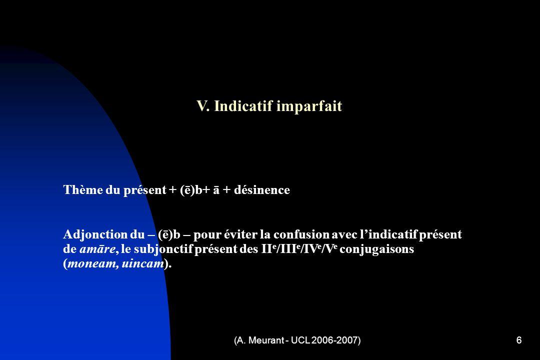 (A. Meurant - UCL 2006-2007)6 V.