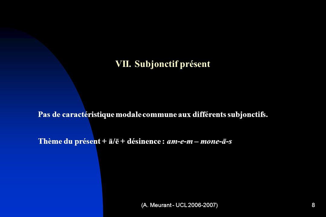(A. Meurant - UCL 2006-2007)8 VII.