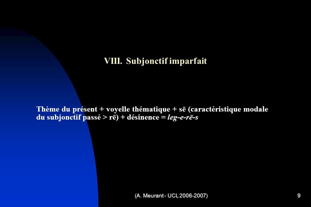 (A. Meurant - UCL 2006-2007)9 VIII.