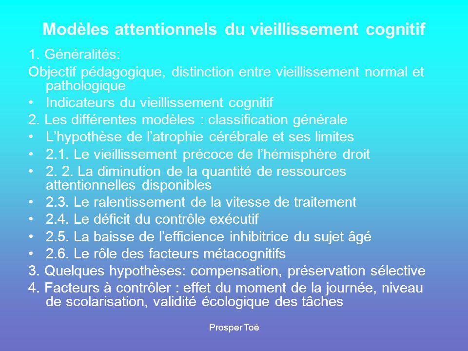 Prosper Toé Evaluation et stimulations cognitives •1•1.